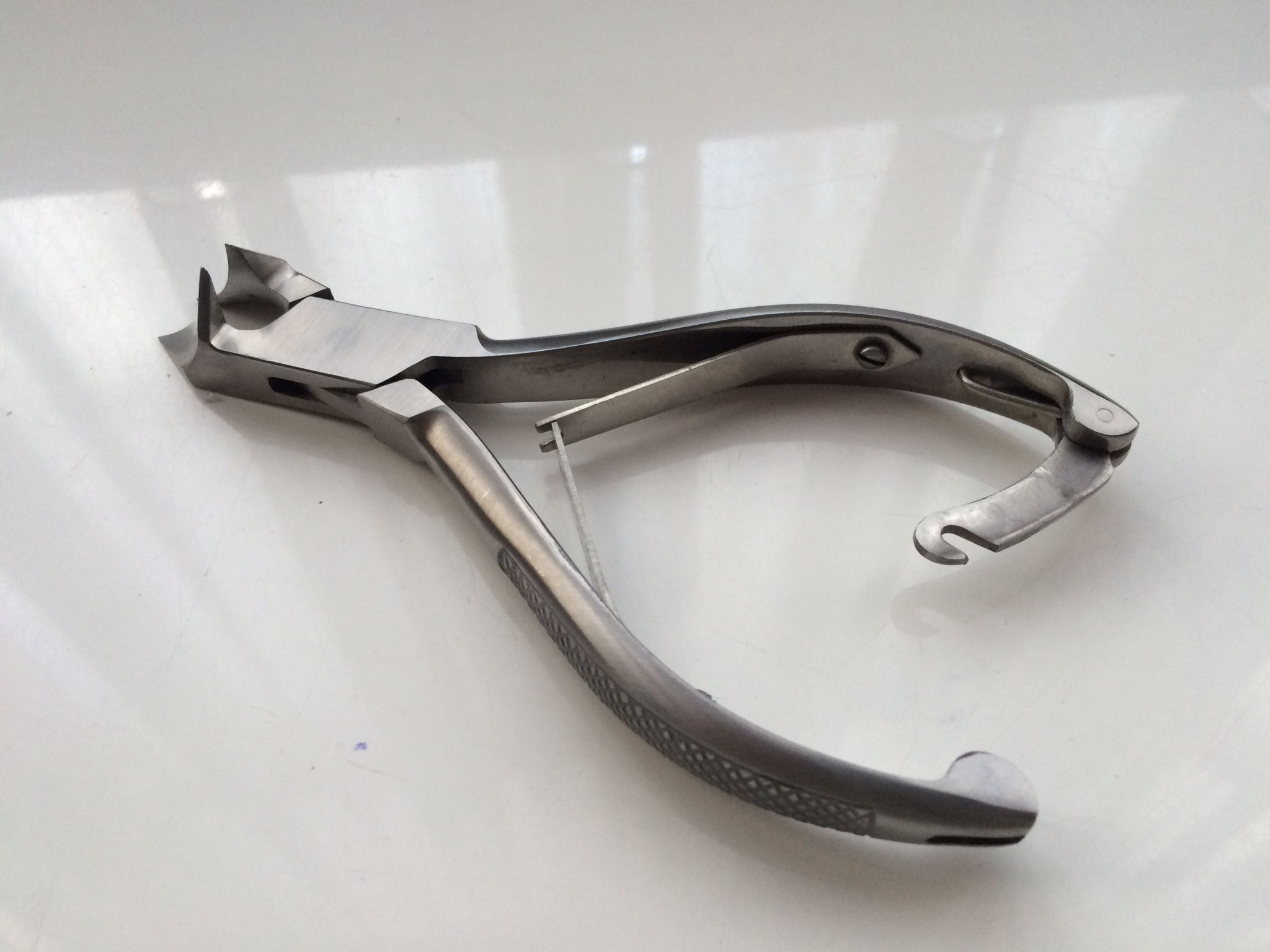 toe nail clipper 5.5 inch stainless moon blade double springs