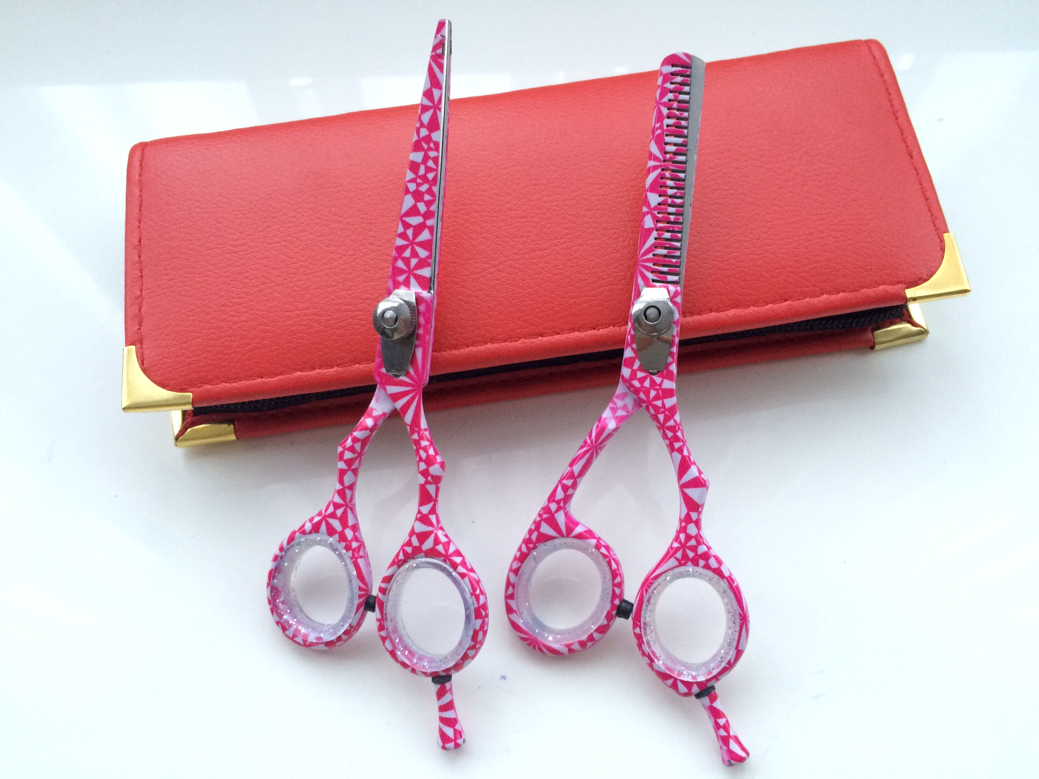 hair dressing scissor set retro pattern 5.5 inch