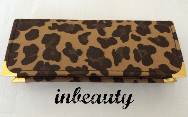 hair dressing pouch case leopard leather look